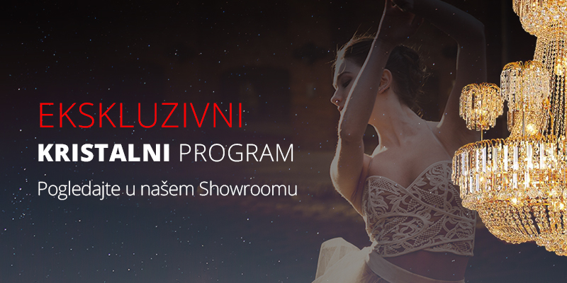 Kristalni program rasvjete Showroom